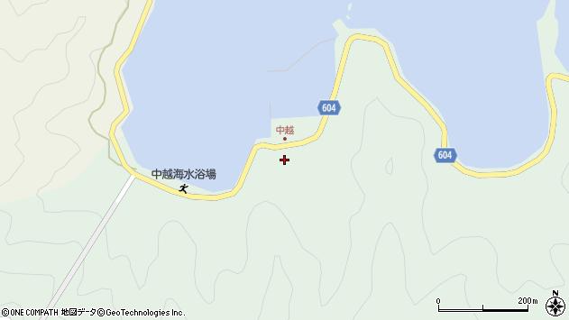 大分県佐伯市鶴見大字中越浦174周辺の地図