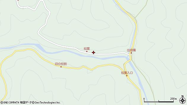 大分県佐伯市本匠大字山部周辺の地図