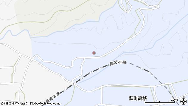 大分県竹田市荻町高城上行年周辺の地図