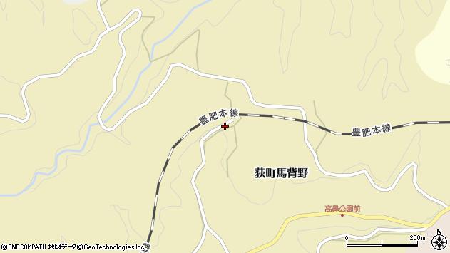 大分県竹田市荻町馬背野386周辺の地図