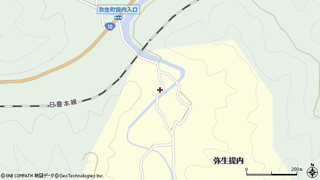 大分県佐伯市弥生大字提内1310周辺の地図