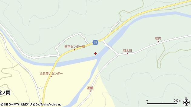 大分県佐伯市本匠大字因尾194周辺の地図