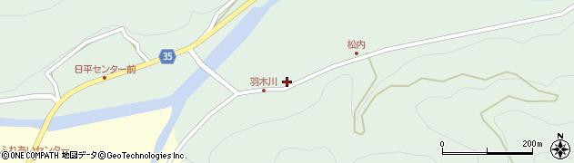 大分県佐伯市本匠大字因尾986周辺の地図