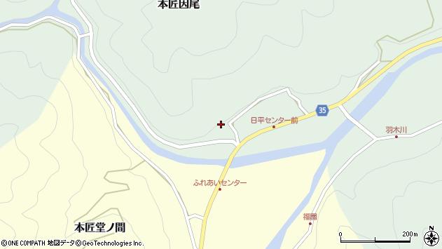大分県佐伯市本匠大字因尾286周辺の地図