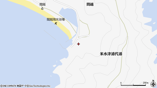 大分県佐伯市米水津大字浦代浦1820周辺の地図