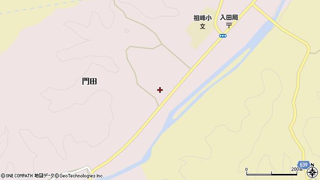 大分県竹田市門田563周辺の地図