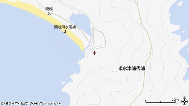 大分県佐伯市米水津大字浦代浦1821周辺の地図
