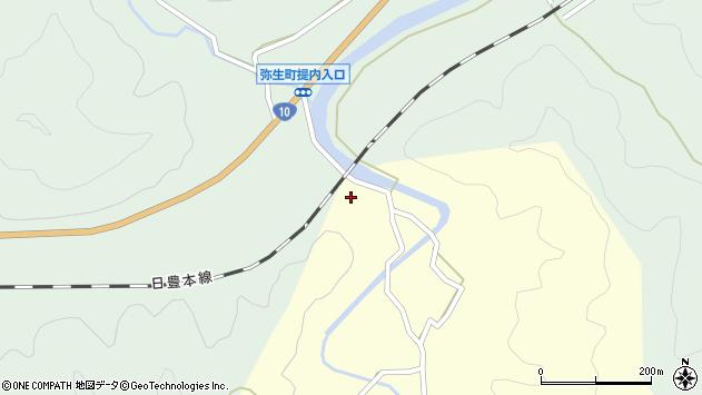 大分県佐伯市弥生大字提内1324周辺の地図