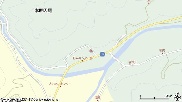 大分県佐伯市本匠大字因尾355周辺の地図