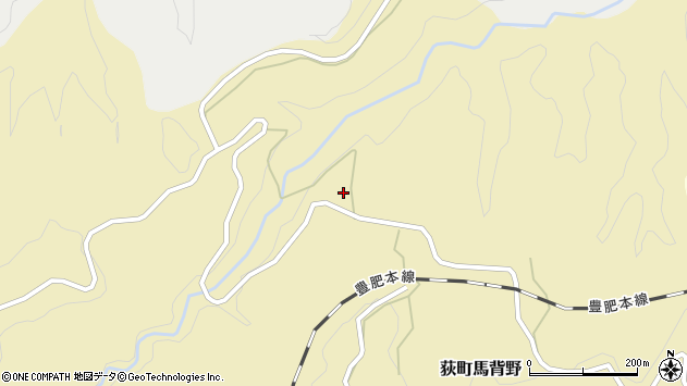 大分県竹田市荻町馬背野289周辺の地図