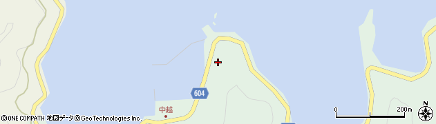 大分県佐伯市鶴見大字中越浦289周辺の地図