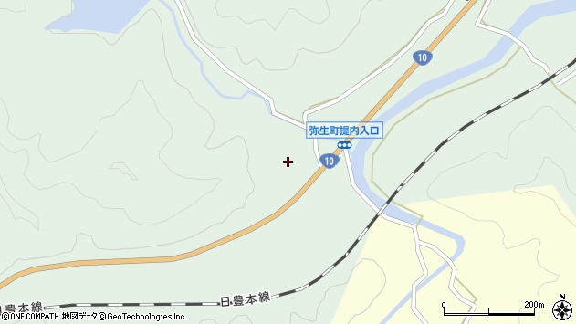 大分県佐伯市弥生大字江良515周辺の地図