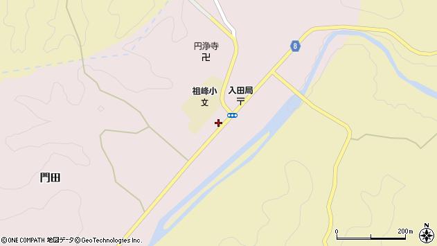 大分県竹田市門田250周辺の地図