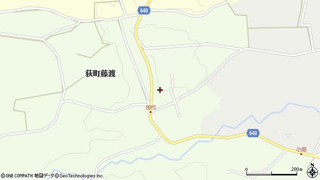 大分県竹田市荻町藤渡周辺の地図