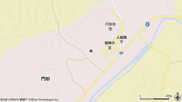 大分県竹田市門田380周辺の地図