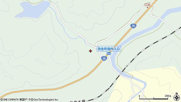 大分県佐伯市弥生大字江良534周辺の地図