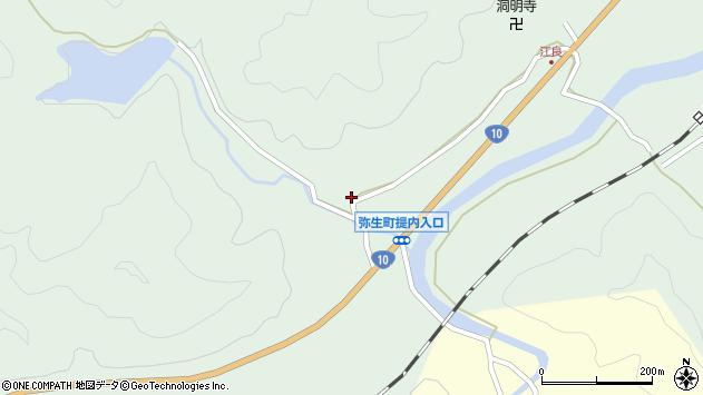 大分県佐伯市弥生大字江良858周辺の地図