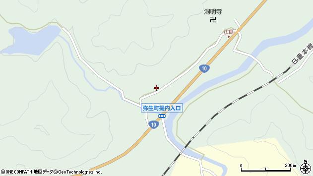 大分県佐伯市弥生大字江良877周辺の地図