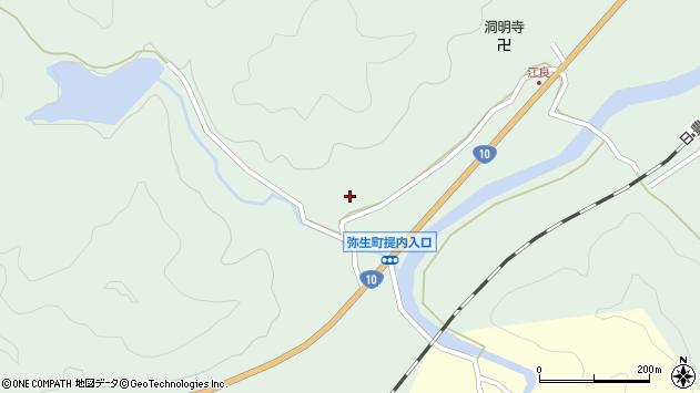 大分県佐伯市弥生大字江良865周辺の地図