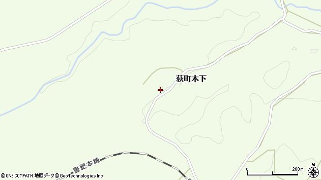 大分県竹田市荻町木下844周辺の地図
