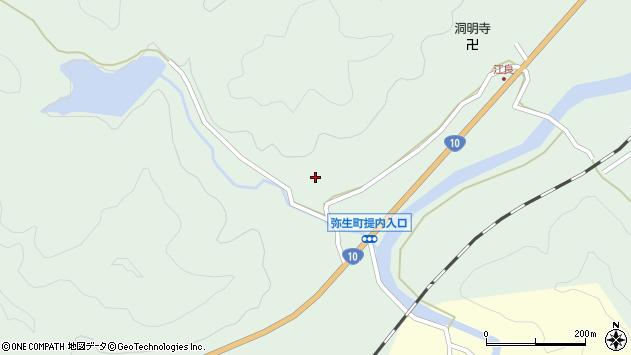 大分県佐伯市弥生大字江良851周辺の地図