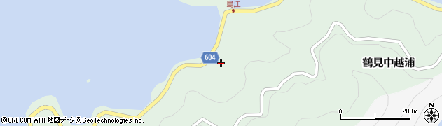 大分県佐伯市鶴見大字中越浦458周辺の地図