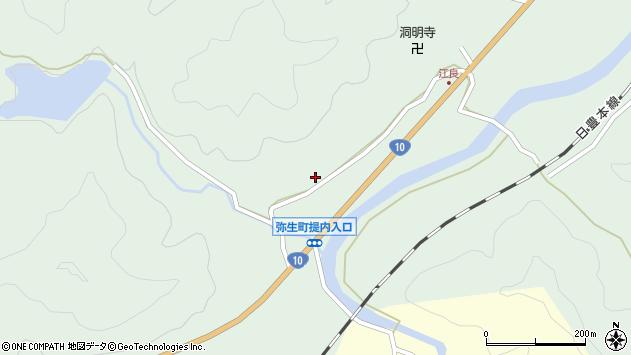 大分県佐伯市弥生大字江良917周辺の地図