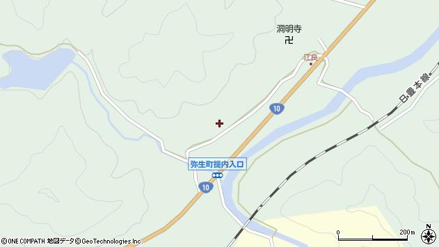 大分県佐伯市弥生大字江良914周辺の地図