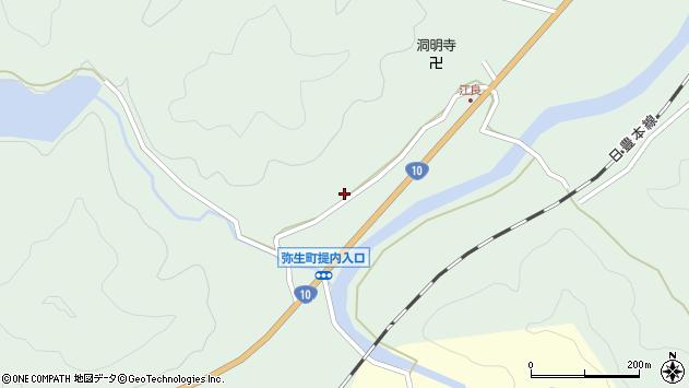 大分県佐伯市弥生大字江良894周辺の地図