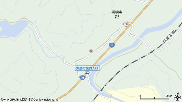 大分県佐伯市弥生大字江良913周辺の地図