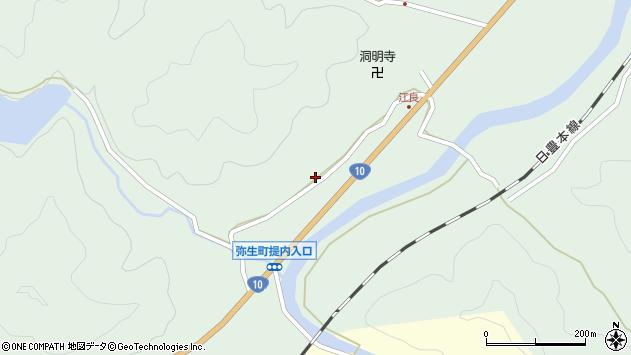 大分県佐伯市弥生大字江良896周辺の地図