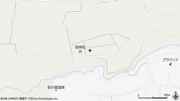 大分県竹田市荻町新藤周辺の地図