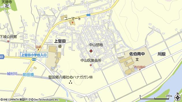 大分県佐伯市長谷周辺の地図