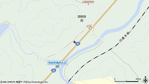 大分県佐伯市弥生大字江良957周辺の地図
