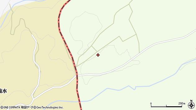 大分県竹田市荻町木下下滝水周辺の地図