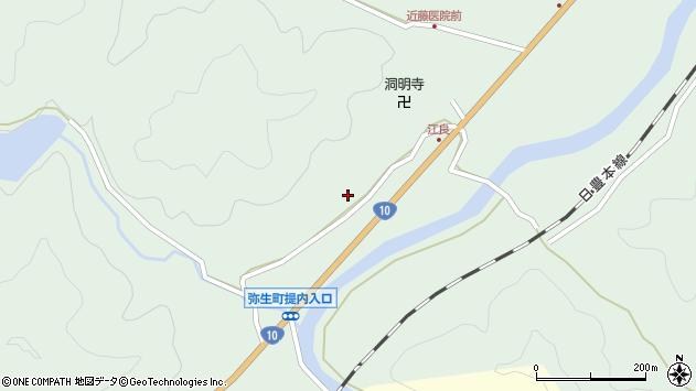 大分県佐伯市弥生大字江良903周辺の地図