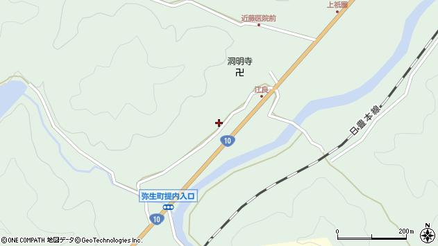 大分県佐伯市弥生大字江良984周辺の地図