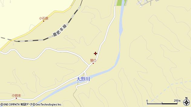 大分県竹田市吉田864周辺の地図