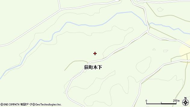 大分県竹田市荻町木下862周辺の地図