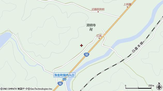 大分県佐伯市弥生大字江良980周辺の地図