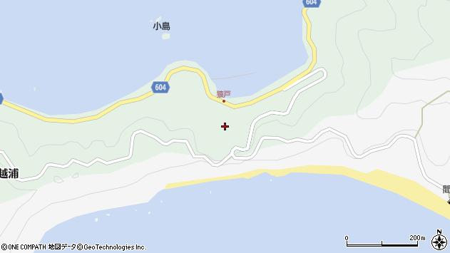 大分県佐伯市鶴見大字中越浦600周辺の地図