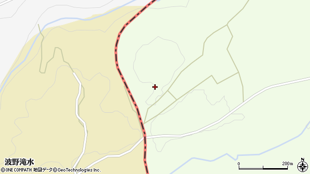 大分県竹田市荻町木下610周辺の地図