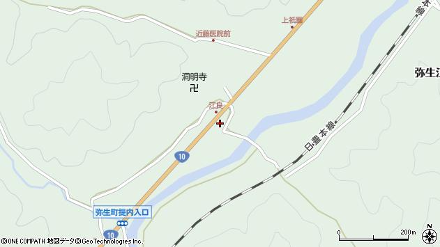 大分県佐伯市弥生大字江良1031周辺の地図