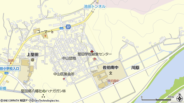 大分県佐伯市長谷10374周辺の地図