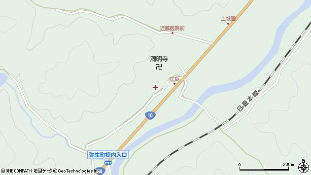 大分県佐伯市弥生大字江良1006周辺の地図