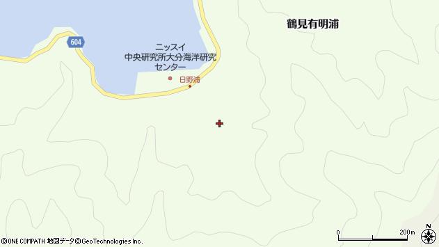 大分県佐伯市鶴見大字有明浦664周辺の地図
