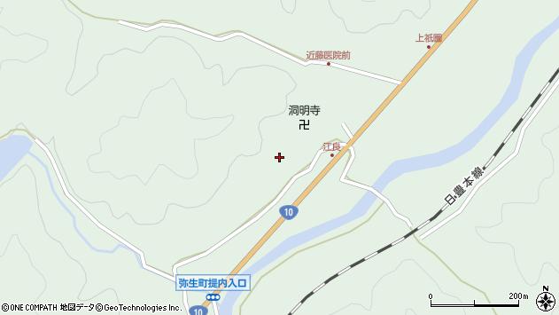 大分県佐伯市弥生大字江良990周辺の地図