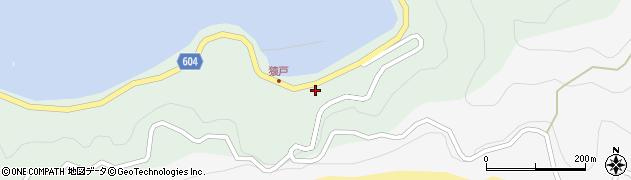 大分県佐伯市鶴見大字中越浦612周辺の地図