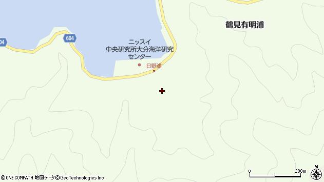 大分県佐伯市鶴見大字有明浦525周辺の地図