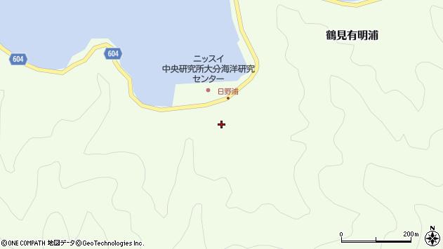 大分県佐伯市鶴見大字有明浦535周辺の地図